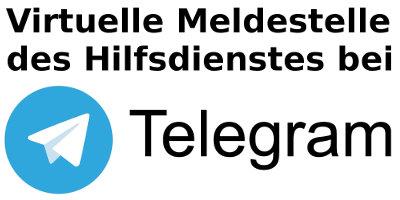 Virtuelle Meldestelle des Vaterländischen Hilfsdienstes bei Telegram.